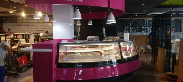 Kiosko de helados Louise les glaces para Gourmet experience para El Corte Ingles (Malaga)